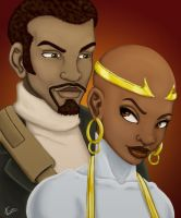 Makeba and Myth by KiraTheArtist