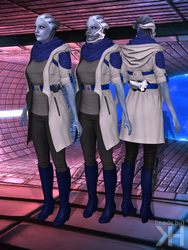 Liara Explorer Outfit V2 (XPS) by Grummel83