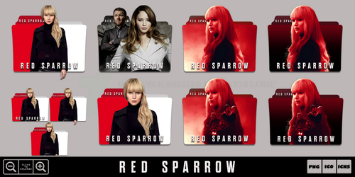 Red Sparrow (2018) Folder Icon Pack by Bl4CKSL4YER