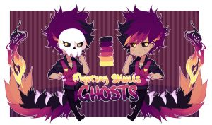 [Song Based Adopts] Mystery Skulls - Ghost /CLOSED by Neon-Hazard