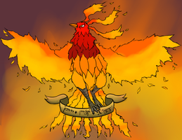 Old Request: Annoying Pheonix by silhouette345