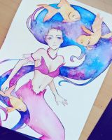 Galaxy Mermaid by mindy0306