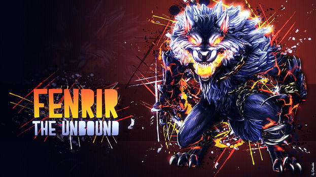 Fenrir, The Unbound - Wallpaper HD by Getsukeii