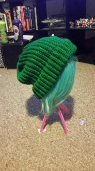 Green slouch hat by GamerGirl131992
