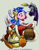 SSBBrawl: Kirby Team by karniz