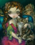Princess with a Maine Coon Cat by jasminetoad