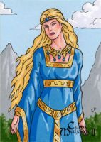 Freyja Sketch Card - Classic Mythology II by ElainePerna
