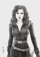 Black Widow Drawing by EduardoCopati