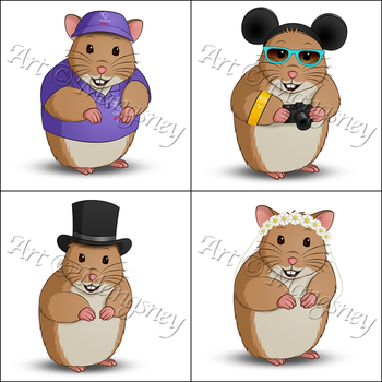 Holiday Hamster Logos 2 by Mangsney