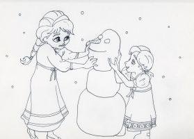 Unofficial Frozen Coloring Book Page Snowman by MyThoughtsAreDeep