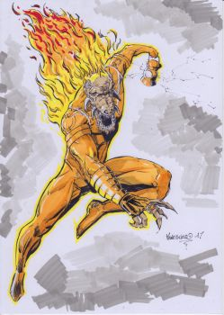 Larfleeze speed inked/color by MenguzzOArt