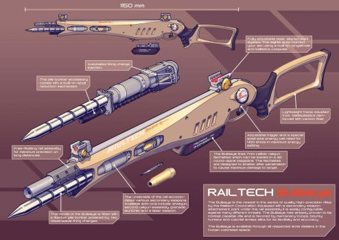 Railtech Bullseye- pile bunker rifle by PenUser