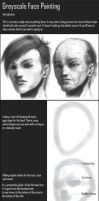 Tutorial: Greyscale Face Paint by minties