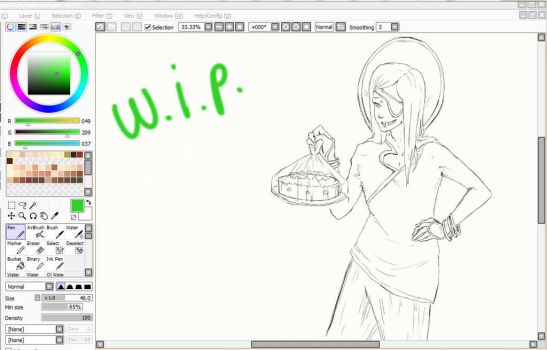 Lineart- WIP by WednesdayLiveInAWord