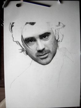 Colin Farrell WIP 2 by caneker