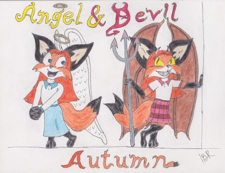 Autumn - Angel and Devil by Wolf-Guard