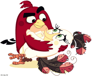 Red and Matilda (ABM style) by KatTheFalcon