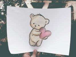 Sad Loving TeddyBear by KhaledReese