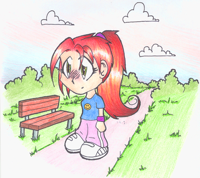 Red Haired Girl by DAVEAC1117
