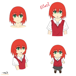 Chise Sketch Dump (colored) by LateDaybreak