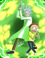 Rick and Morty Forever 100 Years! by Ceehoff