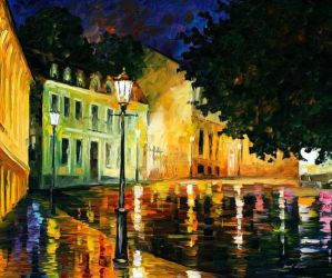 Before The Sunrise 1 by Leonid Afremov by Leonidafremov