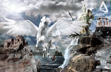 Pegasus Greek Mythology by christian-designs