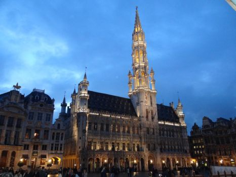 Brussels City Hall by Dwazou