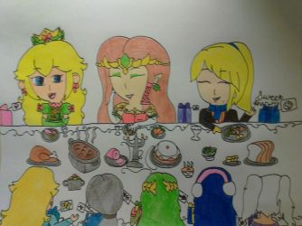 Smash Girls Dinner Party (Secret Santa) by Sweet-Sharotto