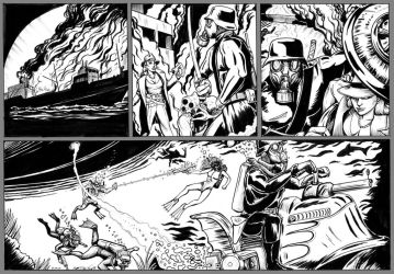 Warbirds of Mars Webcomic 49 Inks by DocRedfield