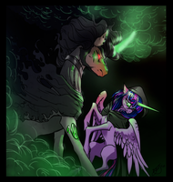 Lich VS Wraith - King Sombra and Twilight Sparkle by OpalAcorn