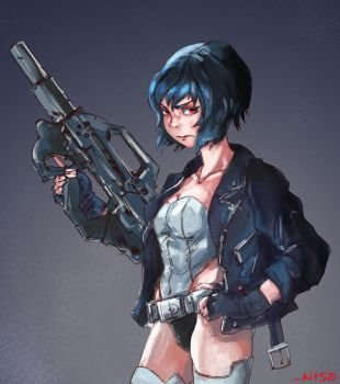 Ghost In The Shell Fanart by rajeshnpai