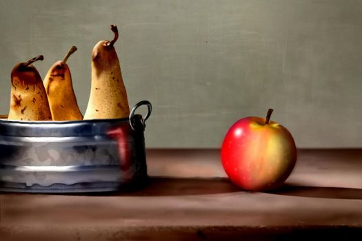 Pears And Apple by pasadonut