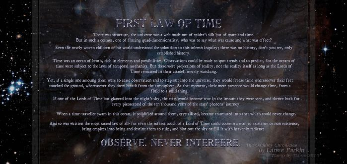 First Law of Time by T-Lorie