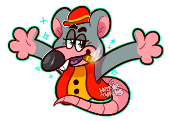 chuck e. cheese's pizza time theatre by HedgieMuffins