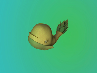PineApple Whale 3d by EvilBeanz13