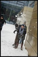 Snowfight in the courtyard 01 by wandi-Camarell