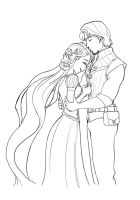 Rapunzel and Flynn by lamch0pz