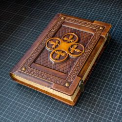 Medieval styled leather journal by alexlibris999