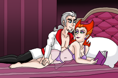 Vlad and Spectra comfort night by kaitlynrager