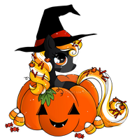 Pumpkin Pony Commish by YamPuff