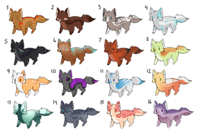 Choose your price Wolf Adopts OPEN by PineappleAdopts