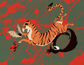 Tigers Lead From the Front by MadSketcher