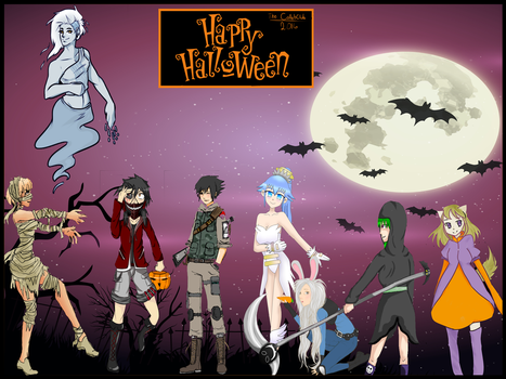 Happy Halloween 2016 from the CollabClub! by ViridiVulpes