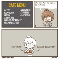 Cafe Menu by mclelun
