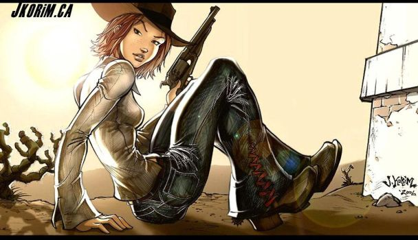Gunslinger Chick by JKorim
