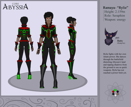 Core Abyssia- Rylie reference sheet by Scylla225
