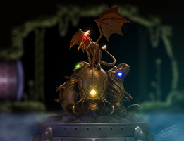 OUTDATED Super Metroid Golden Statue by FrancoFerrari