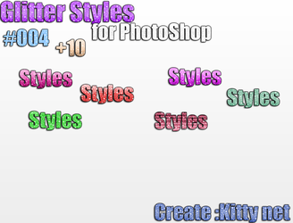 #004 Glitter styles for PhotoShop +10 by KittyNet