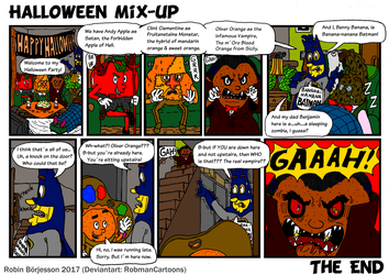 The Yellow Banana Comic: Halloween Mix-up (2017) by RobmanCartoons